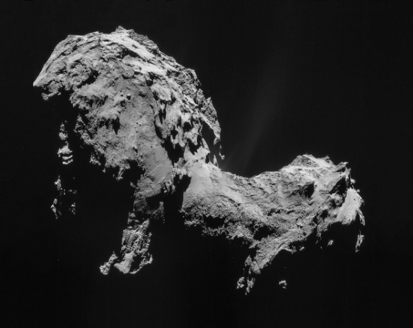 Photograph of 67P/Churyumov-Gerasimenko taken by Rosetta's Philae Lander. (wikipedia)
