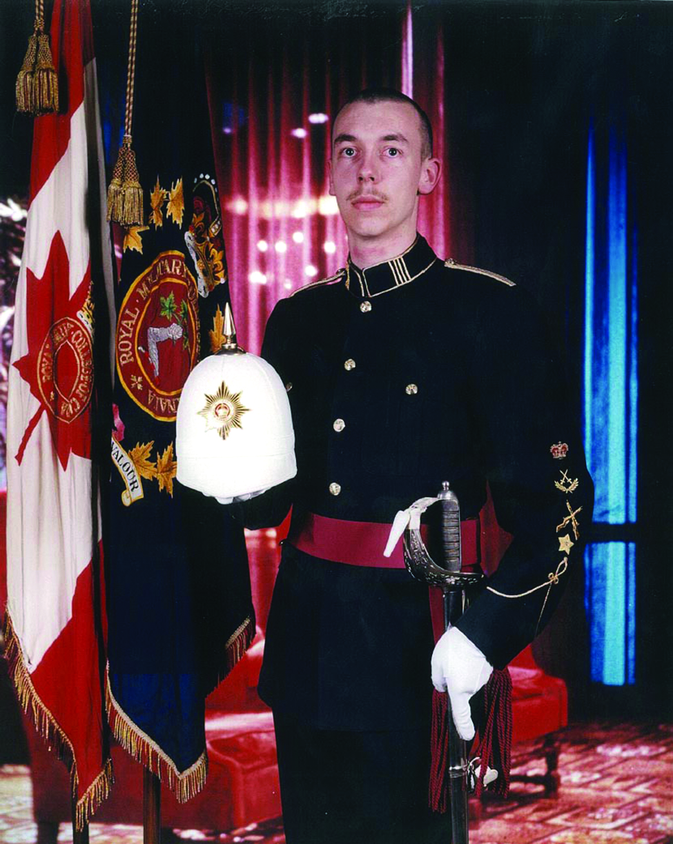 Andrew's Royal Military College graduation photo, as Commander of the RMC Drill Team, May 1995.