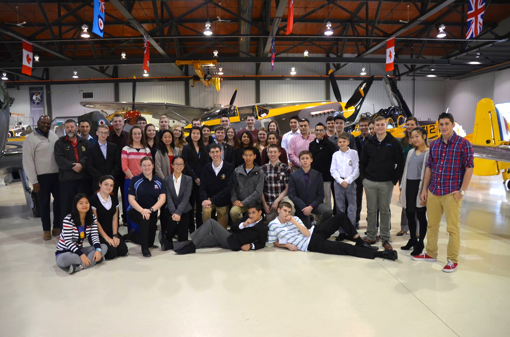 A group photo at the Canadian Aviation and Space Museum of those who attended the four-day Air Cadet Leadership symposium. (Stan Monkman, Air Cadet League of Canada (ALBERTA) )