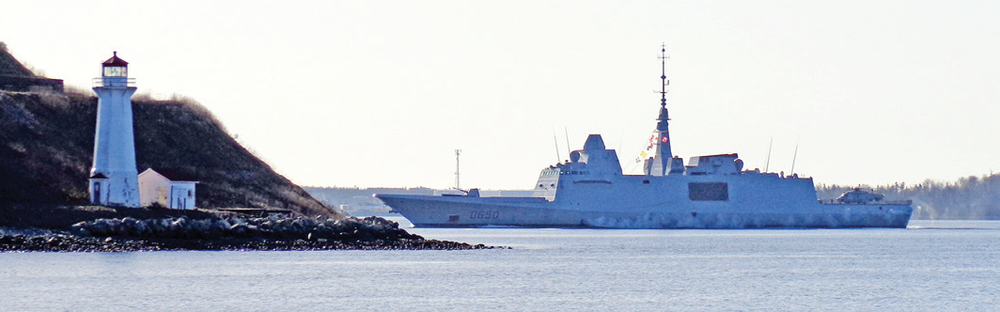 In April 2013, the French naval destroyer Aquitaine crossed the Atlantic and docked at Halifax, Nova Scotia, coming from Brazil and New York and before continuing her journey to Iceland.  The FREMM's innovative design and versatility allow full operation of the ship with a crew less than half the size of the crew of previous generation ships with similar missions. It is being marketed as a proven design for the CSC. (DCNS)
