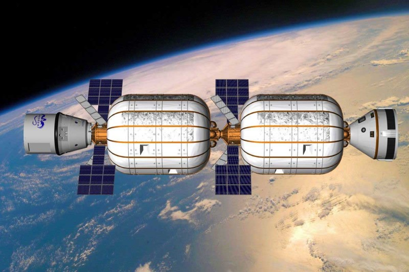 A depiction of how the B330 prototype is expected to look like in 2020. (Bigelow Aerospace)