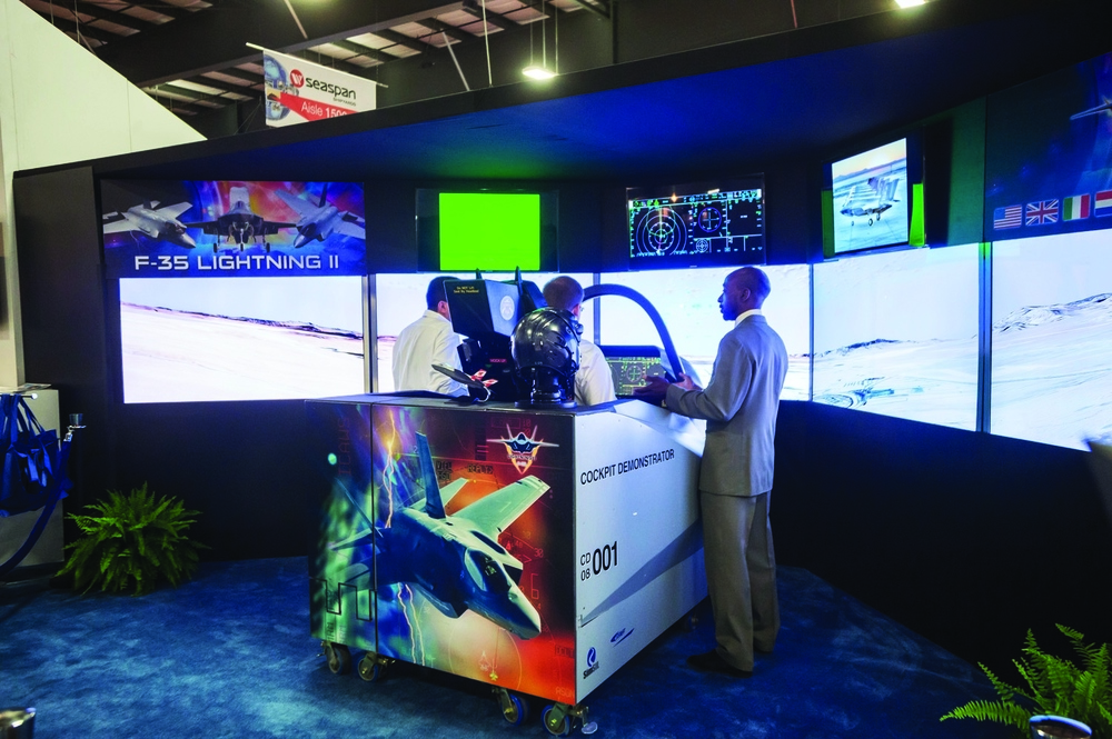 Back in 2013, Lockheed Martin promoted the technological advances of its F-35 Lightning II aircraft. Three years later, the company will once again be bringing to CANSEC the crowd-pleasing cockpit simulator for its stealth fighter. (cadsi)