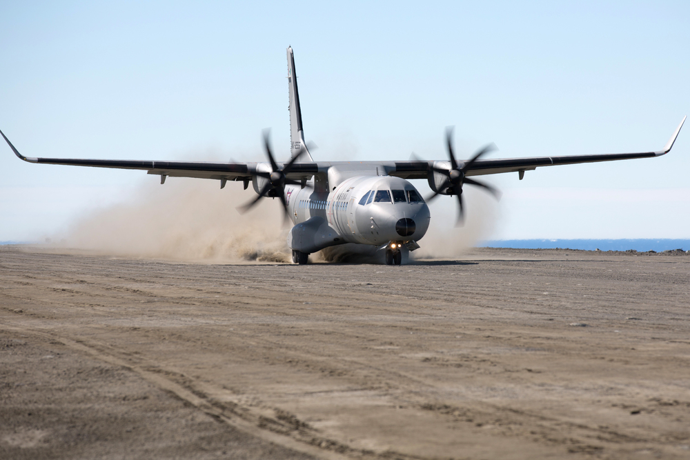 On November 27, 2015 a C295W flew from Río Gallegos Airport in Argentina to that country's permanent, year-round base on Seymour Island in northern Antarctica, Marambio Base, the first flight ever by a C295 to Antarctica. The aircraft conducted a month-long tour of Latin and South American countries, exposing it to a variety of climactic conditions. (roberto molinos, airbus military)