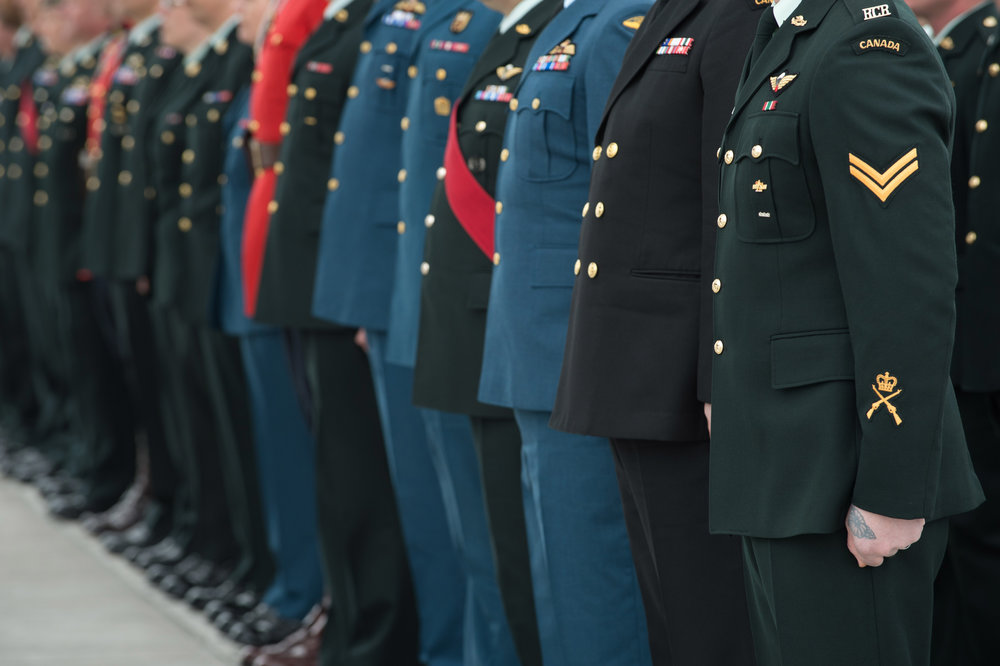 comment - Canadian soldiers on parade (all branches).jpg