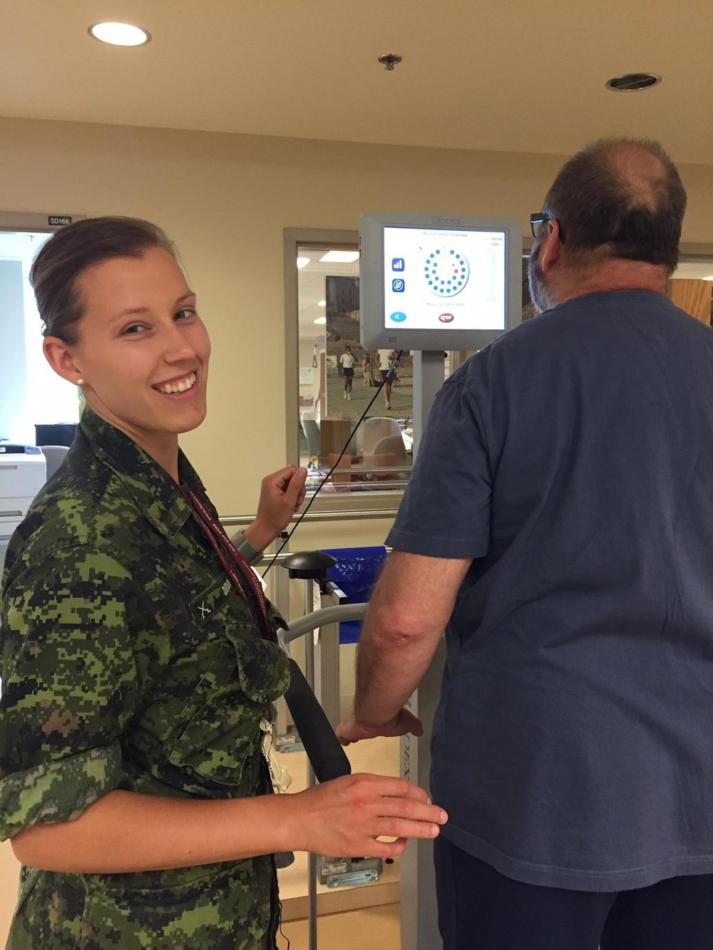 Canadian Army Physiotherapy Officer Captain Carole-Anne Dufour knew from a young age that she wanted to work in health care. On the suggestion of relatives, she decided to practice in the Canadian Armed Forces and now says it is an ideal fit. Photo provided by: Captain Carole-Anne Dufour