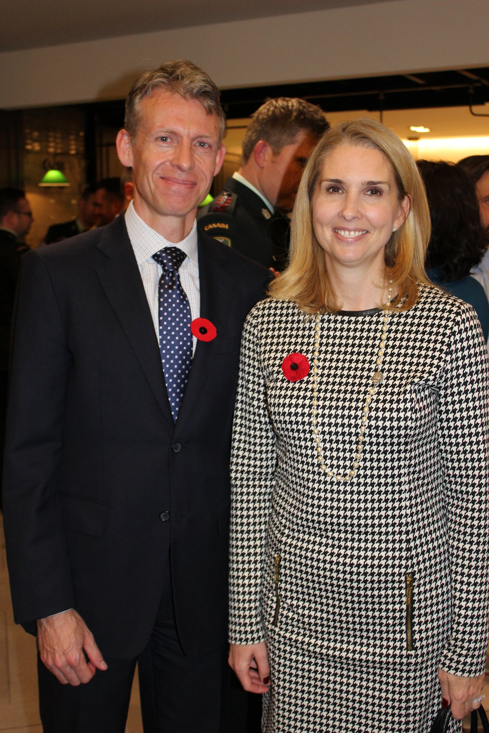 Ross Anderson, Head of Public Policy & Global Responsibility at Starbucks Canada with Bronwen Evans, CEO of TPL.