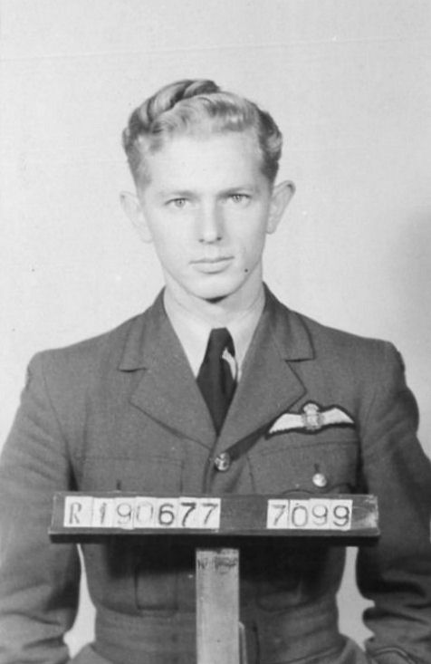 The youthful innocence of Robert English, who grew up in New Jersey, is visible in this photo. After enlisting, Robert conducted flight training in Ontario and then Calgary. After getting his pilot wings on August 20, 1943 he was almost immediately posted to Britain.