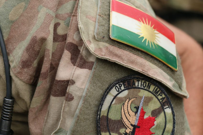 Last year CTV News revealed that Canadian soldiers in Iraq are wearing the flag of Kurdistan on their uniforms…Despite the fact that Canada does not recognize this break-away State.  Photo Credit: Toronto Star