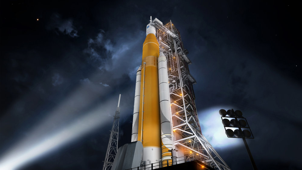 Artist depiction of the Space Launch System (SLS), the future Mars transport. For the first time in almost 40 years, a NASA human-rated rocket has completed all steps needed to clear a critical design review. The agency's Space Launch System (SLS) is the first vehicle designed to meet the challenges of the journey to Mars and the first exploration-class rocket since the Saturn V. Photo: NASA