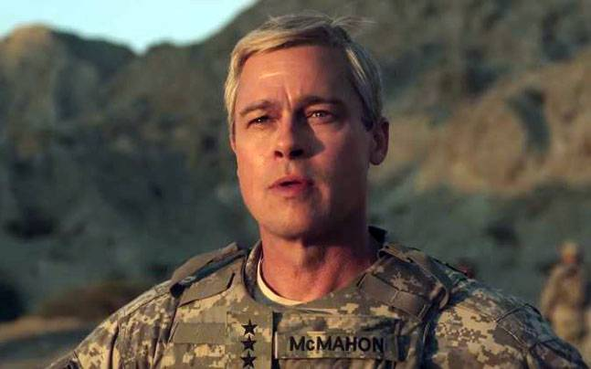 Brad Pitt in the movie War Machine