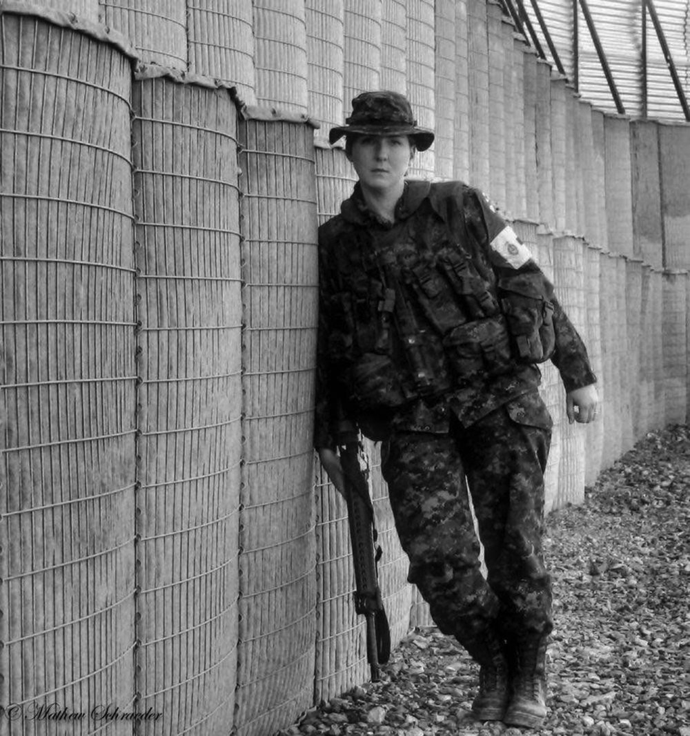 Sergeant Elizabeth Newman did two tours of duty in Afghanistan as a medic with the 1st Canadian Field Ambulance Unit at the height of the heaviest fighting. But transitioning to civilian life after a 20-year career in the Canadian Armed Forces and suffering from PTSD has not been easy for her. (courtesy elizabeth newman)