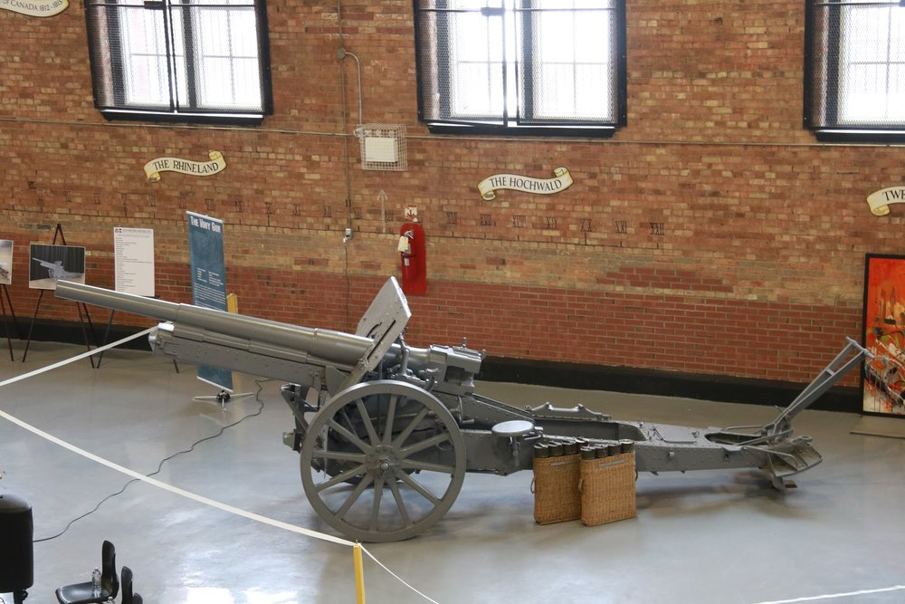 This 10.5-cm leFH 16 towed howitzer was captured from the German infantry by the 7th Battalion (1st British Columbia) on April 13, 1917 just after the Canadian Corps had secured Vimy Ridge. The gun has been restored and preserved by the Lincoln and Welland Regiment Foundation, and is currently on display at the St. Catharines armoury. (lincoln and welland regiment foundation)