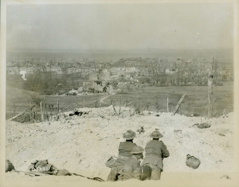 Beyond Vimy, the Douai Plain. This stunning photograph fully captures the tactical significance of Vimy Ridge. As possessors of the ridge, the Canadian Corps had turned the tables on the Germans. Once overlooked from the summit of the ridge, the Canadians now had the benefit of a view kilometres into the German rear areas. (w.i. castle, dnd, george metcalf archival collection, cwm   19920085-244  )