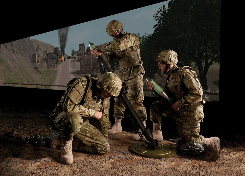 Meggitt Training Systems provides accurate training for mortar crews, requiring them to replicate the call for fire exactly as they would in the field. (meggitt training systems)