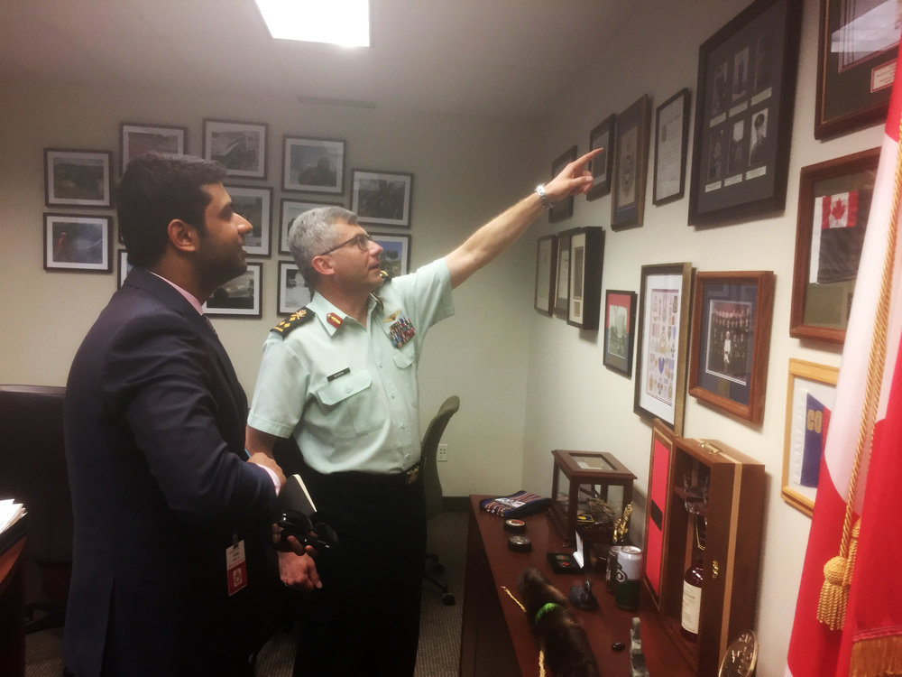 Following the June 21 sit-down interview, Canadian Army Commander LGen Paul Wynnyk took a few minutes to talk about some of the memorabilia and photographs that adorn his office walls to Esprit de Corps' Micaal Ahmed.