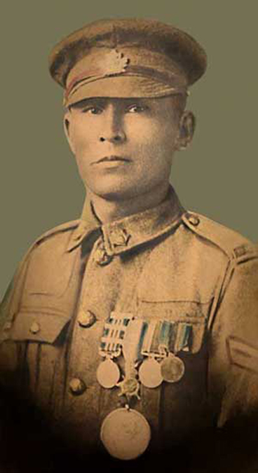 """The top Canadian sniper of the war was Cpl Francis Pegahmagabow, 1st Battalion Canadian Expeditionary Force, with 378 kills with his Ross."""
