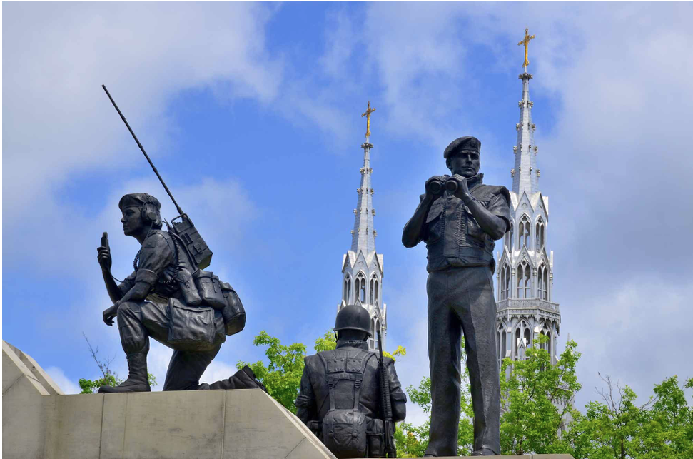 The peacekeeping monument in Ottawa seems out of place now that were out of the peacekeeping game