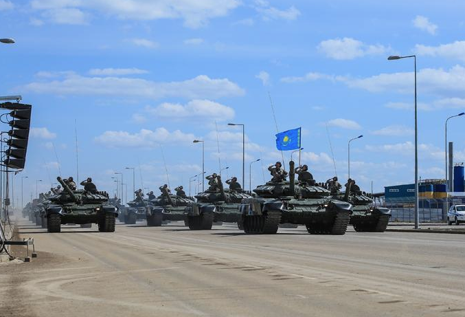 The Kazakh military gets a lot of bang for the buck. WIth a budget just one-tenth that of Canada's they field a formidable fleet of 300 main battle tanks