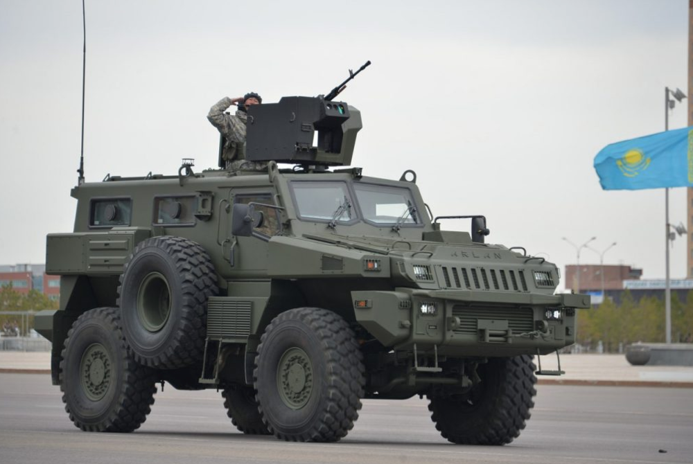 In addition to purchasing NATO equipement, Kazakhstan has also acquired weaponry from non-aligned countries such as this Marauder armoured vehicle from South Africa.