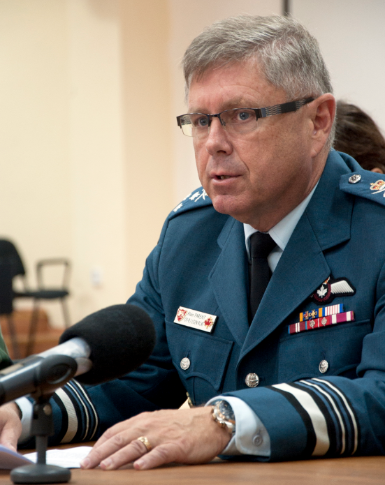 Vice Chief Of Defence Staff Alain Parent  PHOTO: JFC Naples