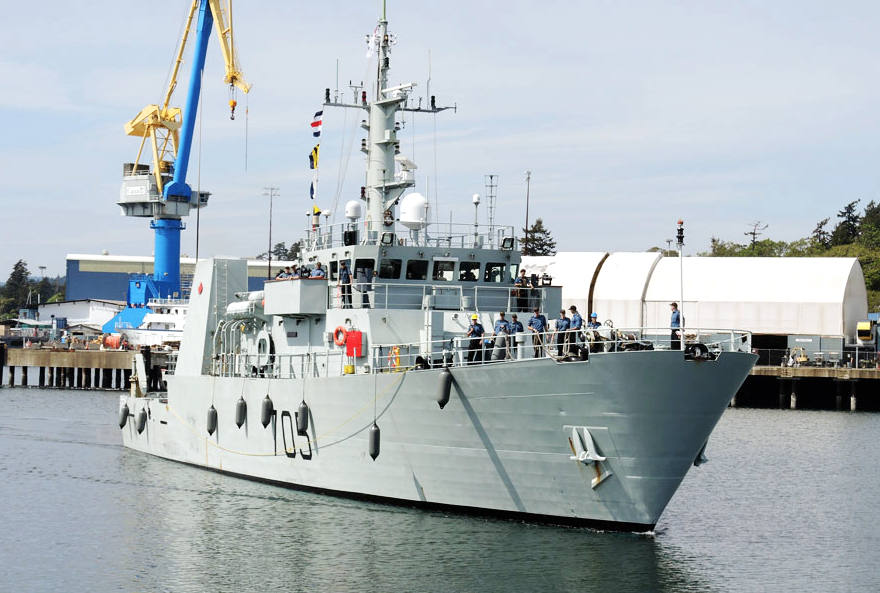 HMCS Whitehorse returns to Esquimalt, B.C., after a successful mission on Operation Caribbe.