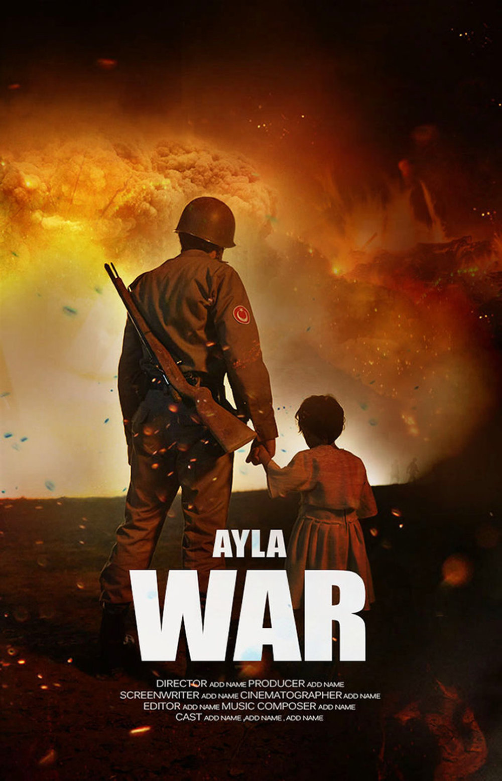 "Poster for Turkish movie ""Ayla""."