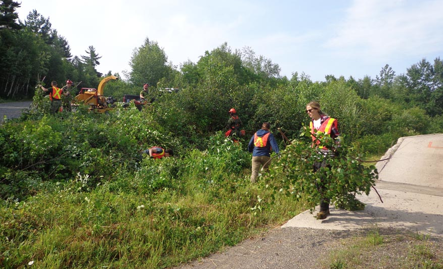 Students from the Fredericton area, hired through the Federal Student Work Experience Program, are helping with upkeep of the massive training area at 5th Canadian Division Support Base Gagetown. Photo provided by Dane Hone, 5 CDSB Range Control Officer ©2018 DND/MDN Canada.