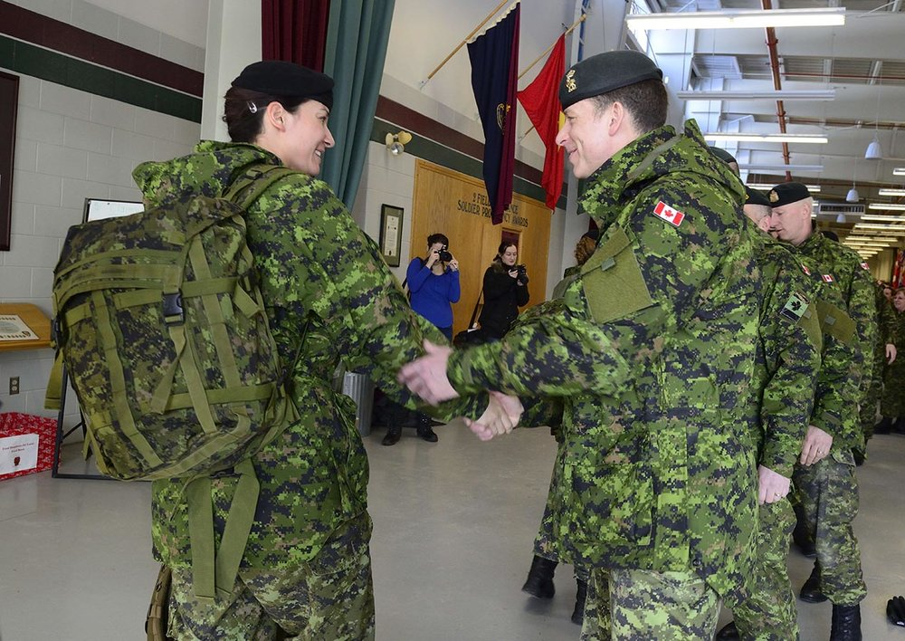 Respect in the CAF: Take a stand against sexual misconduct, a new workshop for military members, helps them to recognize workplace sexual misconduct and be a supportive presence for their colleagues. Photo: Master Corporal Melissa Spence, 4th Canadian Division Public Affairs ©2018 DND/MDN Canada.