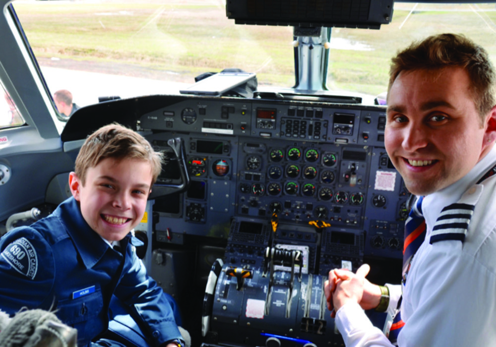 First Officer Marc-Andre Gratton of Air Inuit (right) with Cadet Holbis