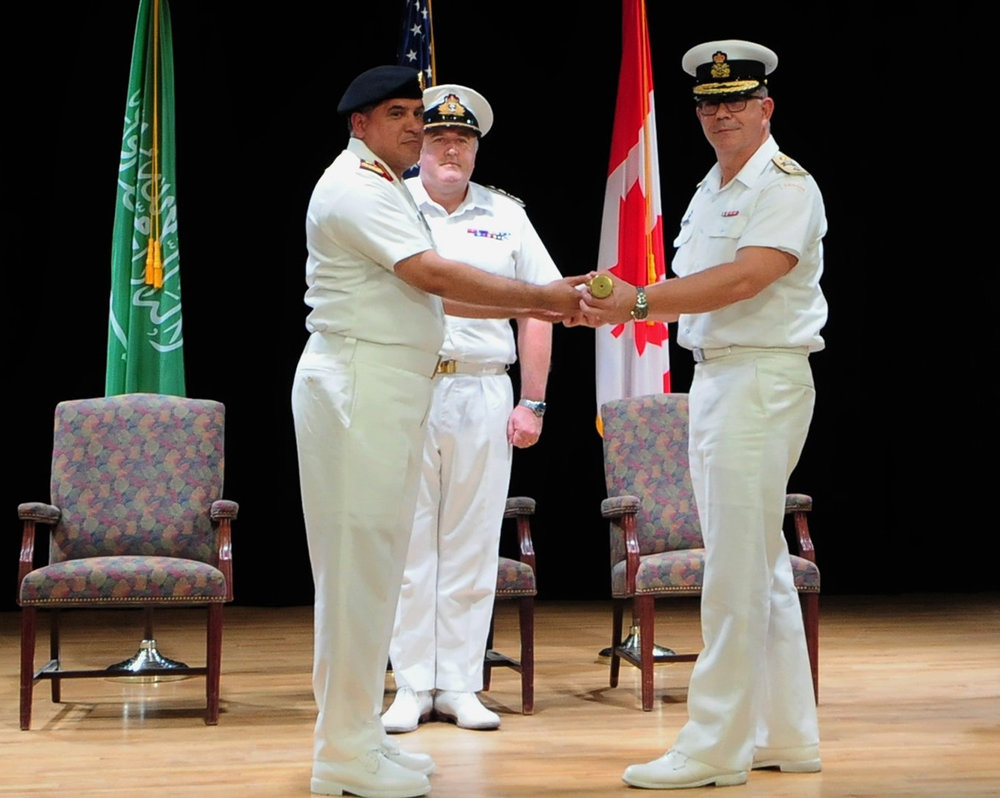 Commodore Darren Garnier took command from Commodore Al-Shahrani on December 6, 2018, in Bahrain. The ceremony was presided over by Commodore Steve Dainton Royal Navy, Deputy Commander Combined Maritime Forces.
