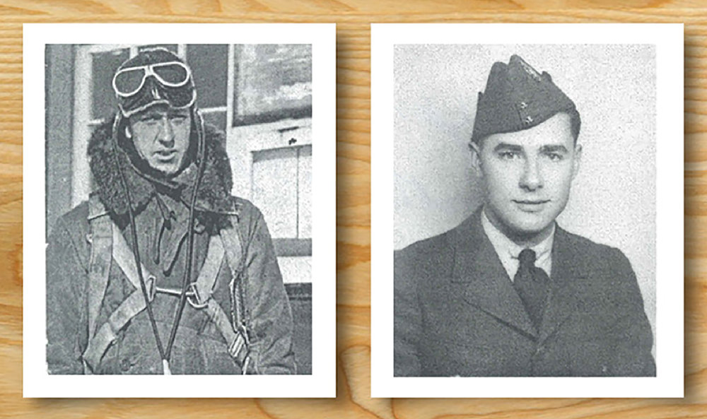"Ottawa residents Warrant Officer Class II James Edgerton ""Ted"" Doan (left) and Corporal David Alexander Rennie, both members of the RCAF before the Second World War, died in September 1939. PHOTOS: ""Mystery Plane Found in New Brunswick"", by James Cougle via Vintage Wings of Canada website"