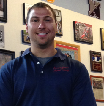 Robbie Williamson,  ATC    Originally from Fairport, New York, Robbie graduated from Ithaca College in 2014 with his BS in Athletic Training where he played for the Ithaca Bombers football team for 4 years. Robbie enjoys working closely with athletes, helping them to maintain their maximum performance.