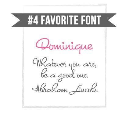 Dominique Regular Cursive Script Font