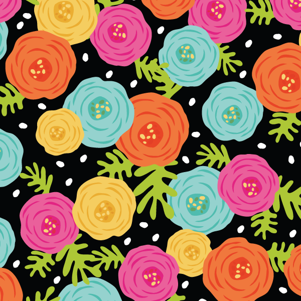 365 Patterns - Bold Ranunculus