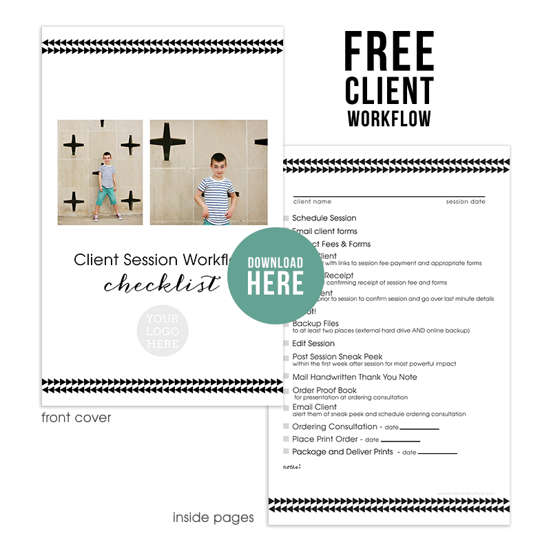 Free photographers workflow checklist + BONUS Millers Lab tear off notebook template!