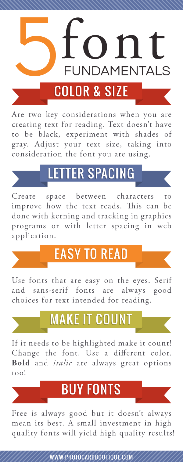 5 Font Fundamentals - for good design