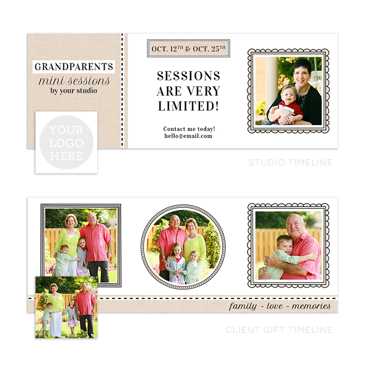 Grandparents Mini Session Marketing Sets