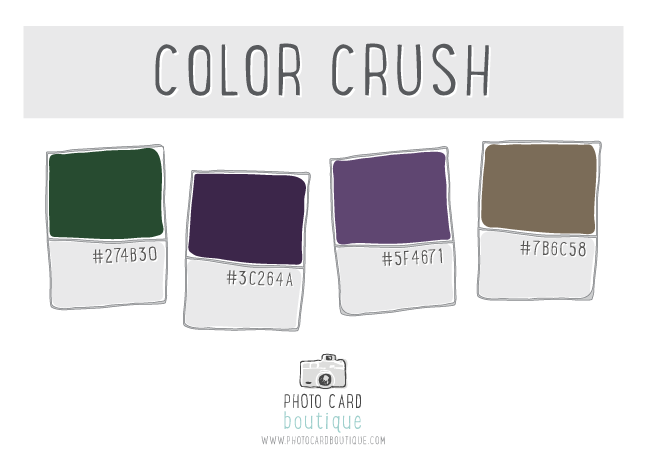 Green, plum and khaki color palette