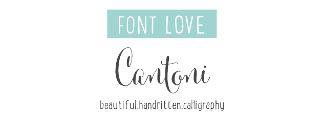 Cantoni, hand lettered calligraphy font