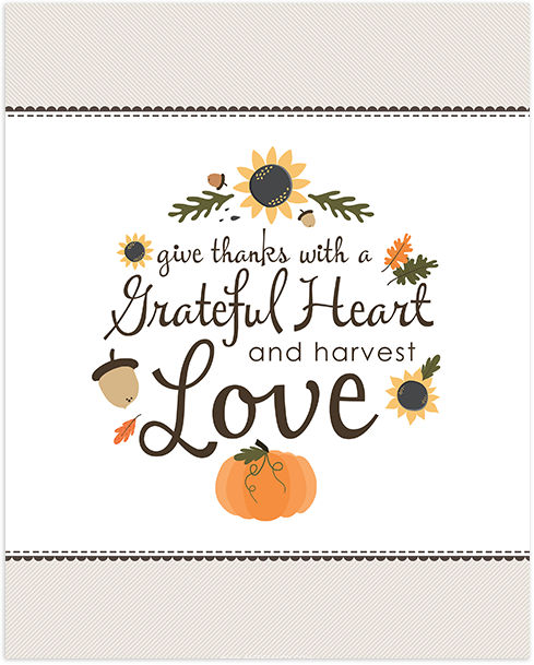 Free Fall Thanksgiving Printable Angie Sandy Art