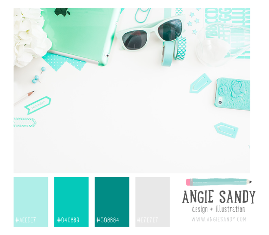 Color Crush 4.28.2014 - Angie Sandy #colorcrush #aqua