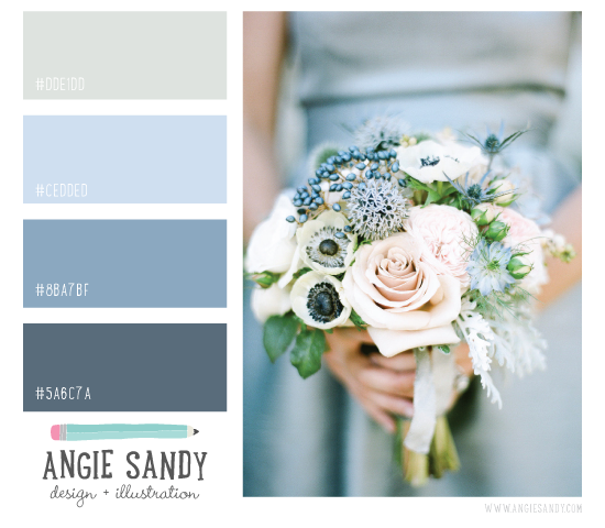 Color Crush 5.6.2014 | Angie Sandy Design + Illustration #colorpalette #grayblue