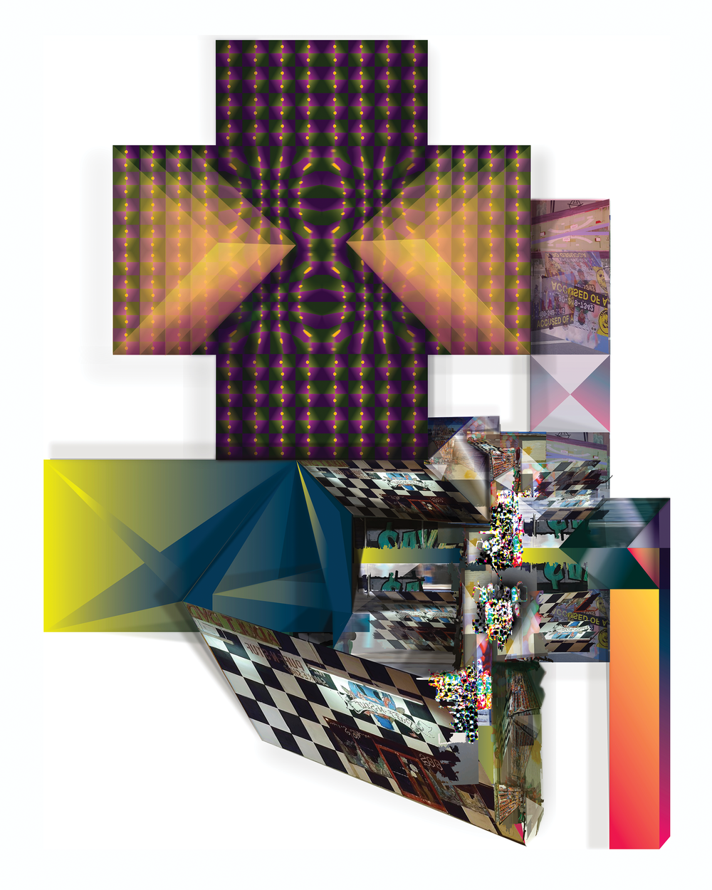 "Vernacular of the Shadow World   2019, Inkjet Print  30"" x 22"" x1.5"""
