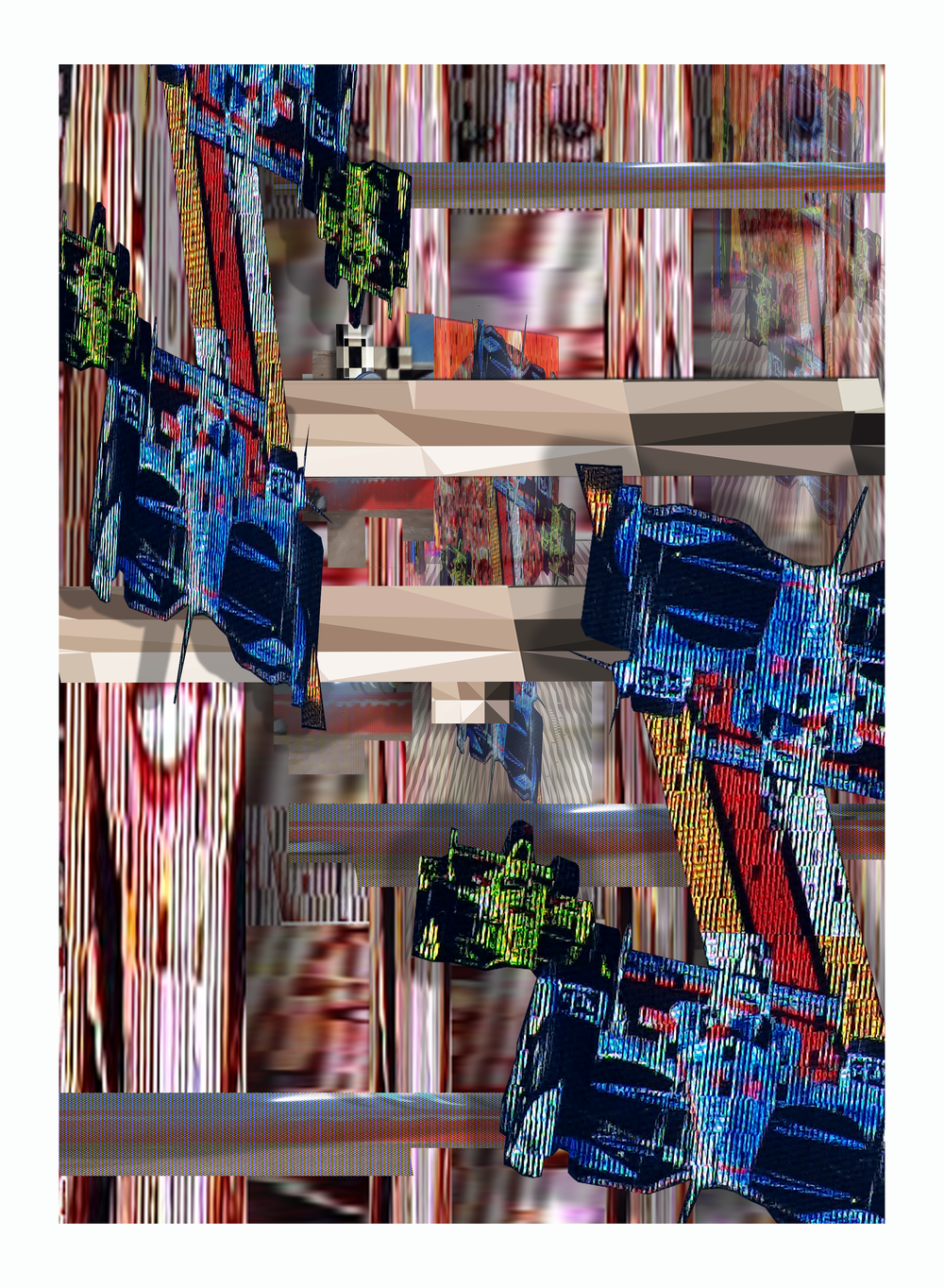 """I Need to See More Than Three Dimensions   2019, Inkjet Print  30"""" x 22"""" x1.5"""""""