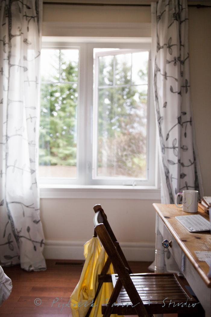 home office overlooking garden