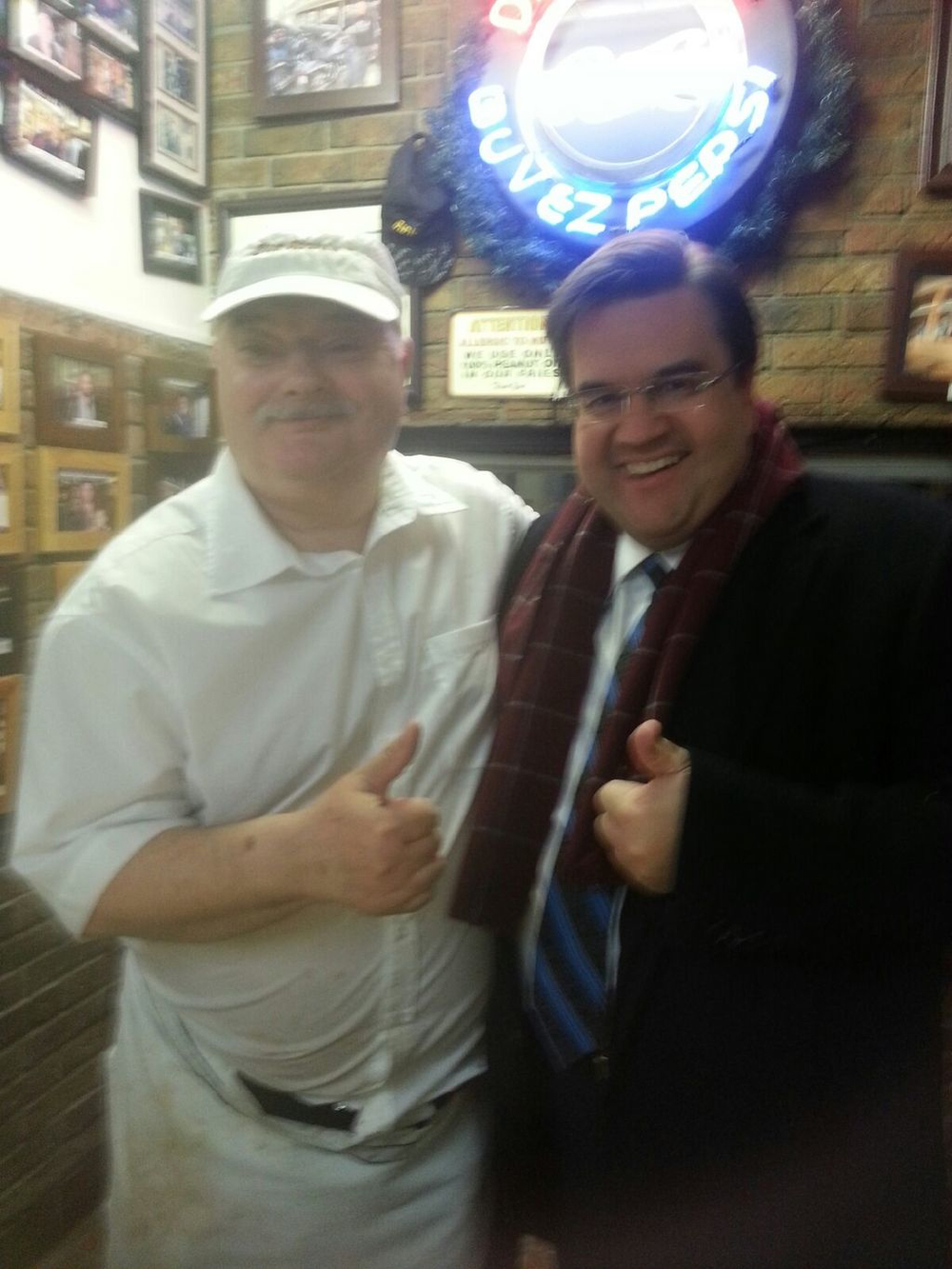 Wally and his friend, Denis Coderre.  Wally et son ami!