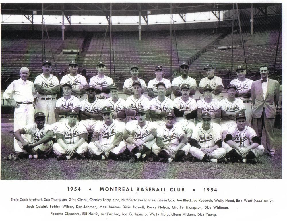 Roberto Clemente, avec les Royals de Montréal, 1954