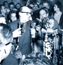 Jean Drapeau et René Lévesque (journaliste), 1954
