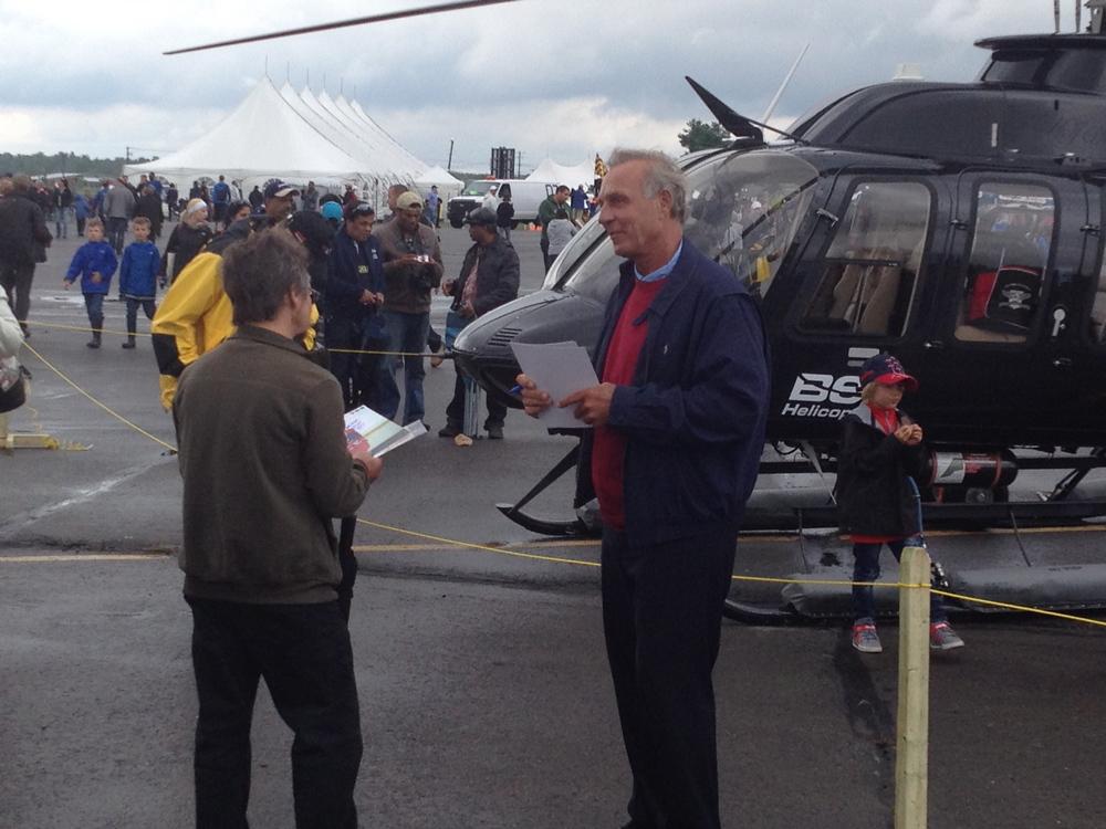 Guy Lafleur et son helicopteur