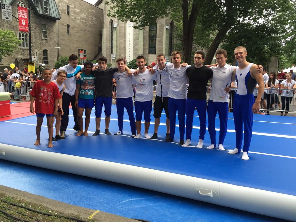 L'équipe gymnastique duQuébec